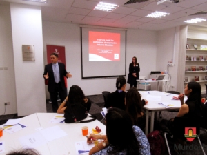 (Murdoch Singapore Dean) Associate Professor Peter Waring,  addressing participants